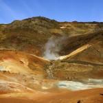 Geothermal mud pools in Krysuvik Reykjanes