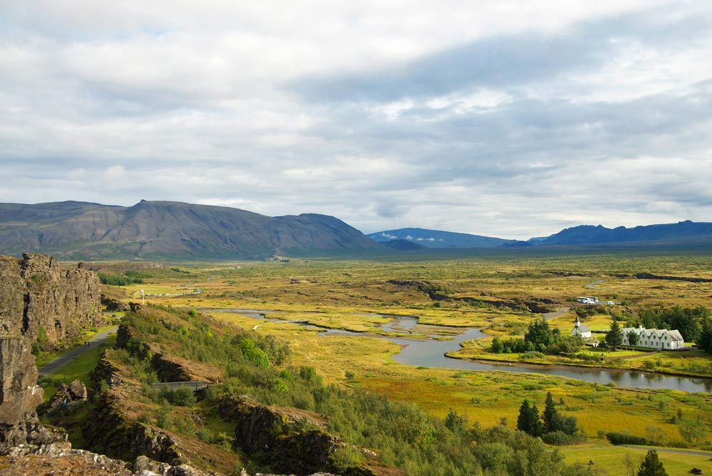 Thingvellir landscape between two continents